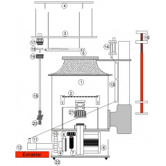 Air distributor for Deltec skimmers