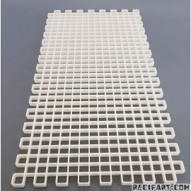 Modular white optical grid 60x30cm