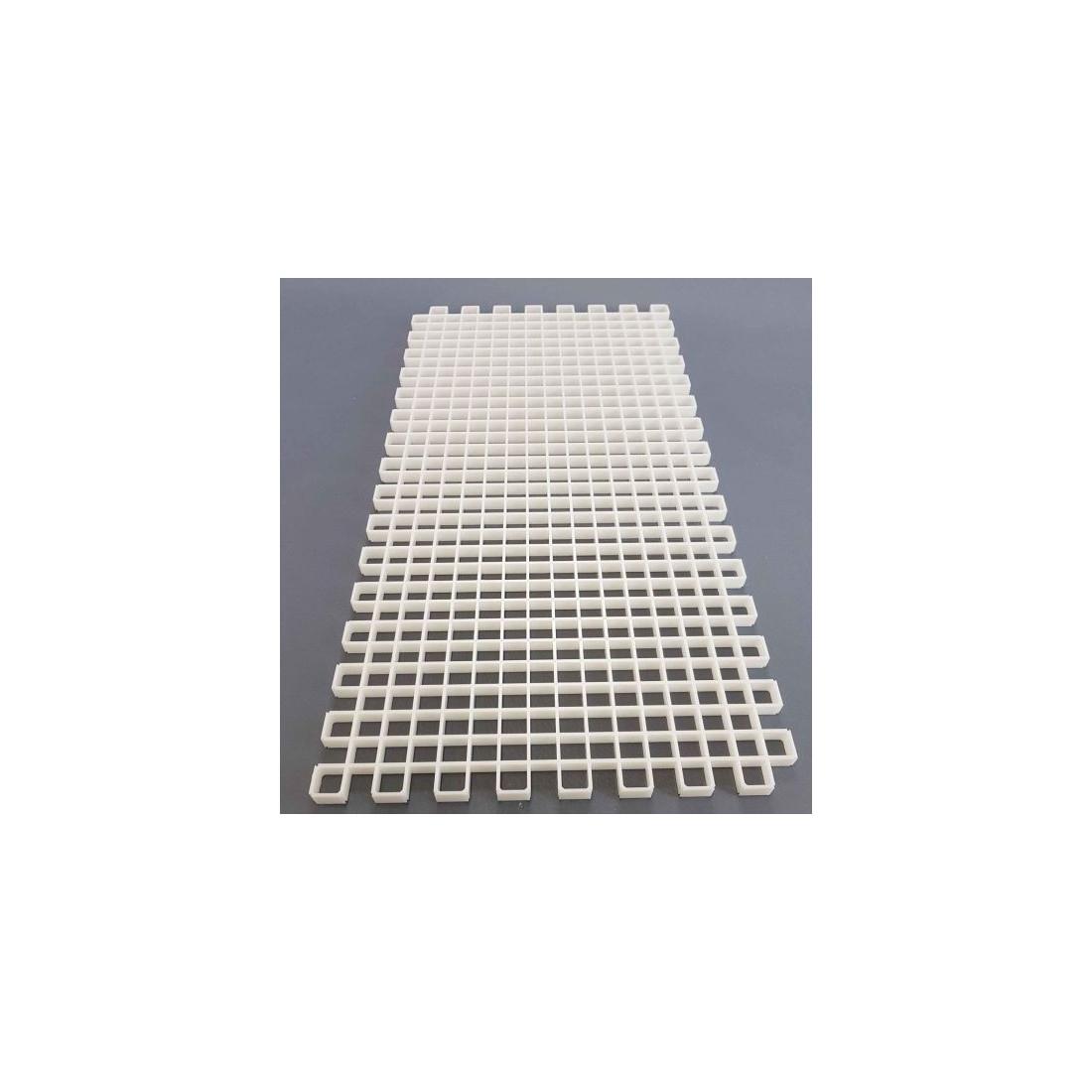 Modular white optical grid 60x30cm
