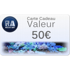 Gift card Recif'Art 50 euros