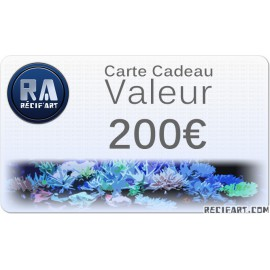 Gift card Recif'Art 200 euros